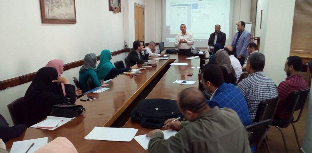 التدريب على ريمارك أوفيس في مركز القياس والتقويم جامعة طنطا