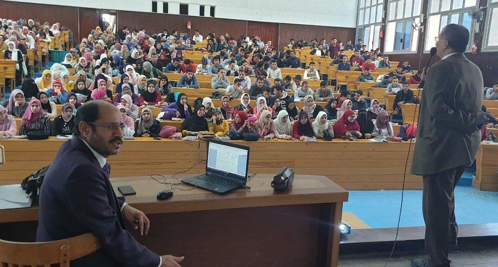 محاضرة تعريفية لبرنامج التصحيح الإلكتروني في كلية الزراعة بجامعة كفر الشيخ