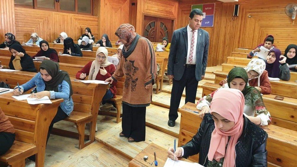 امتحان تجريبي بنموذج البابل شيت في كلية الزراعة بجامعة كفر الشيخ