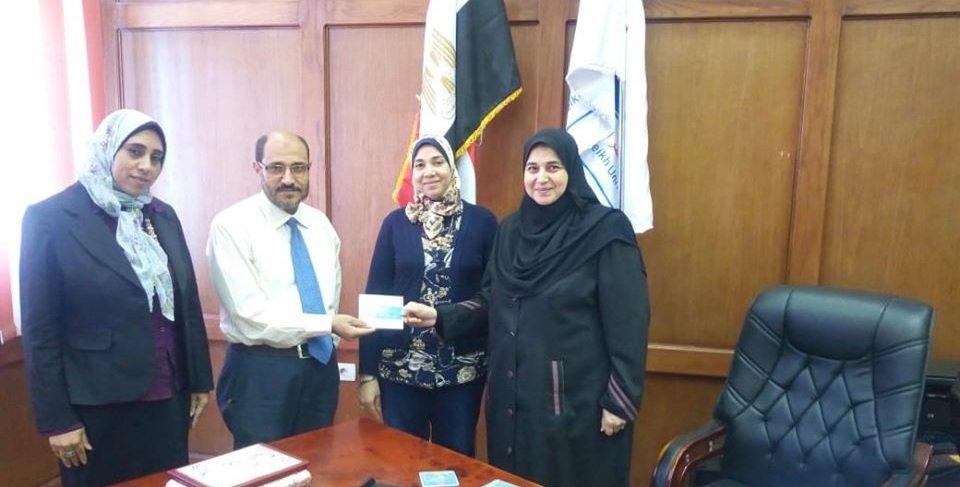 تسليم برنامج التصحيح الإلكتروني للاختبارات في كلية التمريض جامعة كفر الشيخ